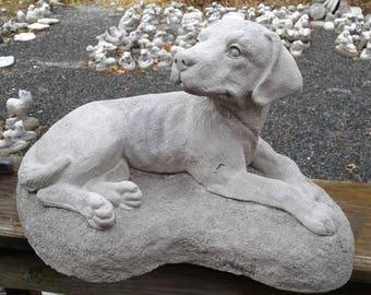 Labrador Retriever dog statue