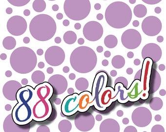 Wall Safe Vinyl Polka Dots 100 Pack and More Circles Removable Lilac Light Purple Medium Nursery Crib Kids Kid Childs Bedroom Room