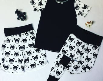 Leggings ONLY Boxer Bull Terrier Dog Black White Custom Size