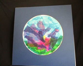 Hoorah Tissue Art Matted