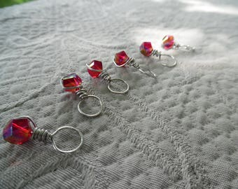 "Stitchmarkers for knitting, ""Rouge"", up to 6.5 mm needles"