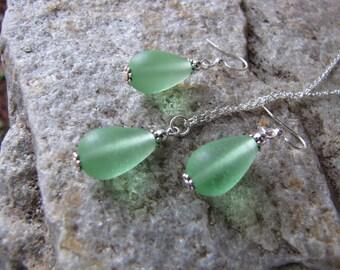green bridesmaid sets sea glass ear rings PALE GREEN seaglass beach glass jewelry  earrings teardrop  earrings