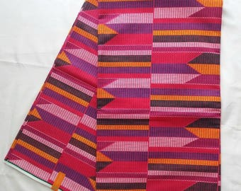 Kente African Print Ankara Cotton Wax Fabric (sold by the yard)
