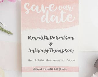 SAVE THE DATE Blush Watercolor