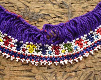 Beaded purple long Kuchi Indian piece