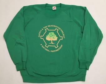 Vintage Readington Project Nature Conservation Crew Neck Sweatshirt