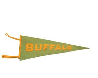 Antique Buffalo NY Felt Flag