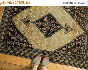 10% OFF RUGS RESERVED 3.5x4.5 Antique Malayer Serab Square Rug