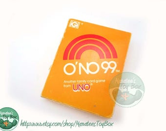 Vintage O'No 99 Card Game from the Makers of Uno 1980