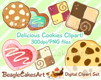 Cookie Clipart. Food Clipart. Instant Download. Hearts Clipart. Sweets Clipart. Digital Download. Cute Printables. Planner Stickers. Digital