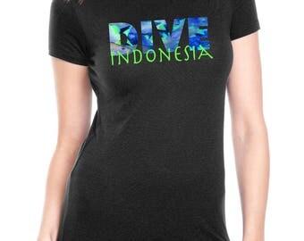 Dive Destination t shirt / Women's t-shirt / Scuba Diving/ Indonesia, Turks & Caicos, Palau, Hawaii, Florida, Aruba, Key West / Scuba gift