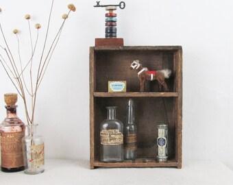 vintage wood crate,desk organizer,industrial crate,vintage caddy,JELL-O,wood tote,farmhouse decor,cubbies,primitive,storage box, circa 1920