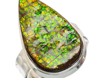 Ammolite 925 Sterling Silver Ring Size 9 RING846137