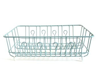 Rubbermaid Dish Drying Rack Turquoise Light Blue Vintage Large