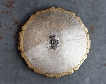 Antique Compact Mirror - Stratton Pocket mirror - Art Deco Design - Made in England