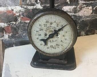 Vintage antique farmhouse kitchen scale counter scale shabby chic