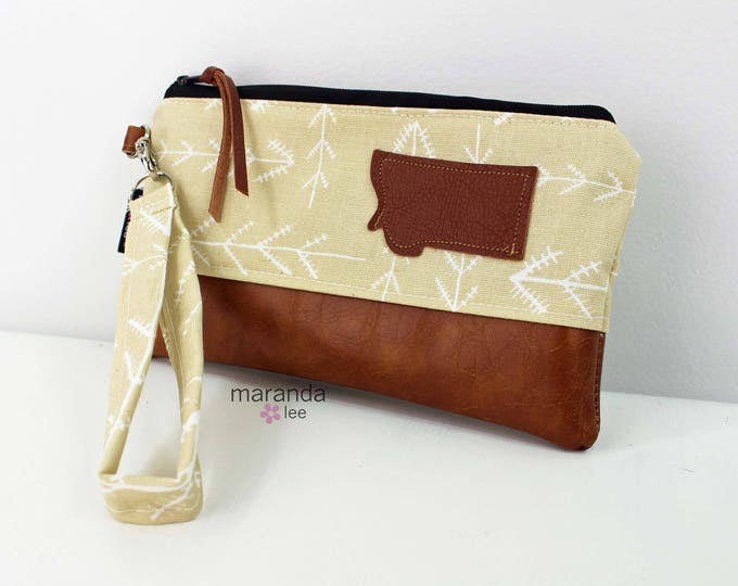 Flat Clutch - Native Yellow with Montana Patch READY to SHIp
