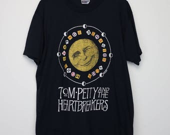 Tom Petty Shirt Vintage tshirt 1990 Strange Behavior Tour Concert Tee 1990s The Heartbreakers Blues Country Heartland Rock And Roll