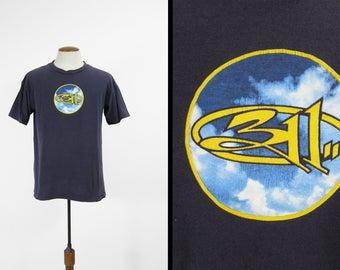 Vintage 90s 311 T-shirt Transistor Tour Blue Cotton Tee Made in USA - Medium / Large