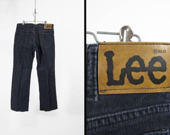 Vintage Lee Blue Cords Straight Leg Corduroy Pants Made in USA - 35 x 29