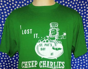 1980's Cheep Charlie's St. Patrick's Day t-shirt, fits like a large
