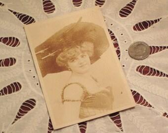 Antique Postcard European Actress