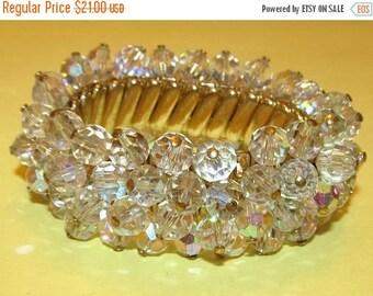 Vintage Crystal Cha-Cha Expansion Bracelet - Marked Japan