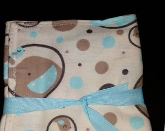 Tan Elephant Bubble Baby Burp Cloths
