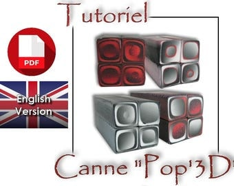 Tutorial / PDF English : Pop 3D effect, Cane