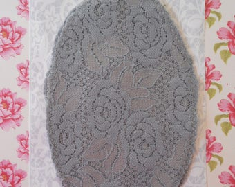 Patches Strech Lace Grey Set of 2