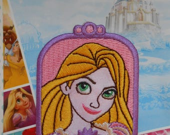 Iron-on Embroidered Patch Disney Princess Rapunzel
