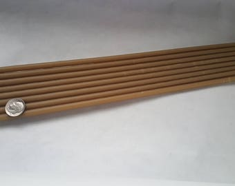 """56 Organic Beeswax tapers candles 1/4"""" x 8"""""""