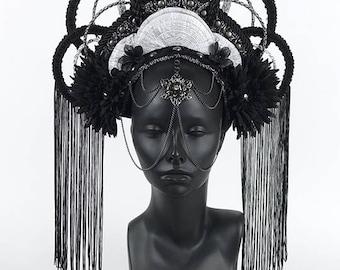 Black & Silver Headdress Crown