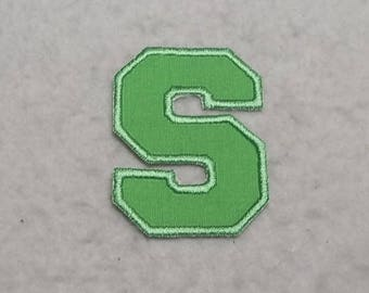 Single 2 inch Upper Case Letter (a - z) (Varsity Collegiate font) MADE to ORDER - Choose COLOR and Letter - Iron on Applique Patch z 6300