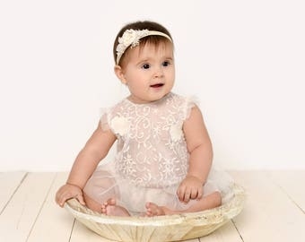 Lace Sitter Romper, 2 Piece Photo Prop Outfit, MADE TO ORDER