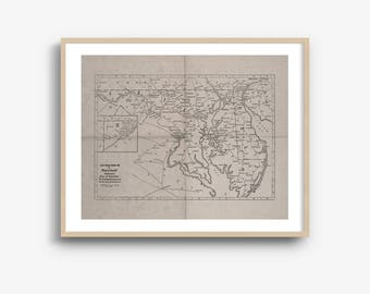 INSTANT DOWNLOAD - Maryland State Map, Maryland Map Download, Map Art, Maryland Art Print, High Resolution Download, 8x10, 16x20 Inch