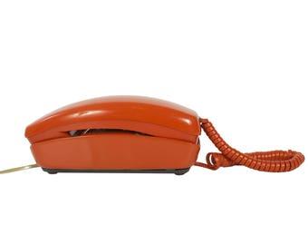 OrangeTrimline Rotary Telephone