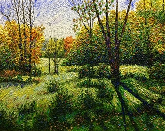 "Original Impressionist style Impasto oil painting ""Passing Fancy"" 18x24"