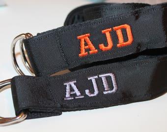 """Black Ribbon Belt Black D Ring Belt 1.5"""" Wide Black Grosgrain and Canvas Belt Black Cinch Belt Men Preppy D Ring Belt ladies black belt"""