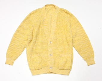 Yellow with White Cardigan
