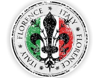 Firenze Florence Seal Sticker Italy Toscana for Bumper Laptop Book Fridge Helmet ToolBox Door PC Hard Hat Tool Box Locker Truck