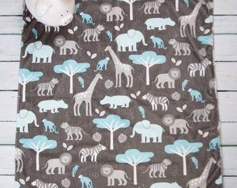 25% off Blue Jungle Minky Baby Blanket