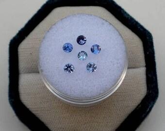 ON SALE 6 Tanzanite Round Loose Natural Gems 3mm each