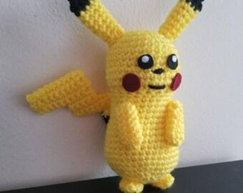 Pokemon Inspired Pikachu Crochet Plush