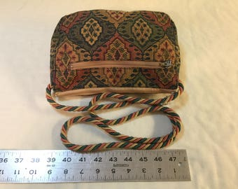 Cross body tapestry purse