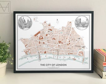 NEW | The City of London map giclee print