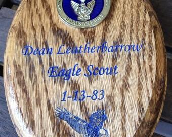 Eagle Scout Oak Plaque #6