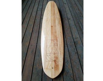 "6'-8"" Hollow Wood Surfboard"