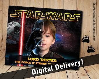 Personalize Star Wars Poster Print, Be Darth Vader Wall Art
