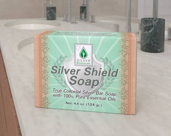Silver Botanicals' Silver Shield Soap - True Colloidal Silver Bar Soap, All-Natural